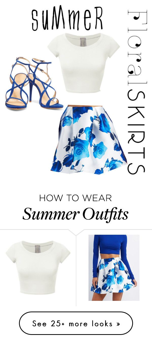 """Summer Blue Themed Outfit"" by kittykake555 on Polyvore featuring Charlotte Russe, Schutz and Floralskirts"