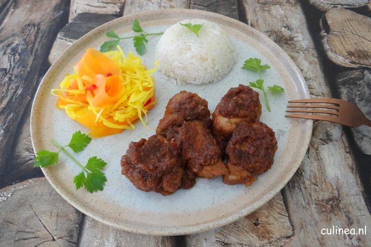 Babi Ketjap. Babi ketjap is een Indonesisch gerecht. Het is varkensvlees gemarineerd en gegaard in ketjap. Je kunt hiervoor ook speklapjes gebruiken.