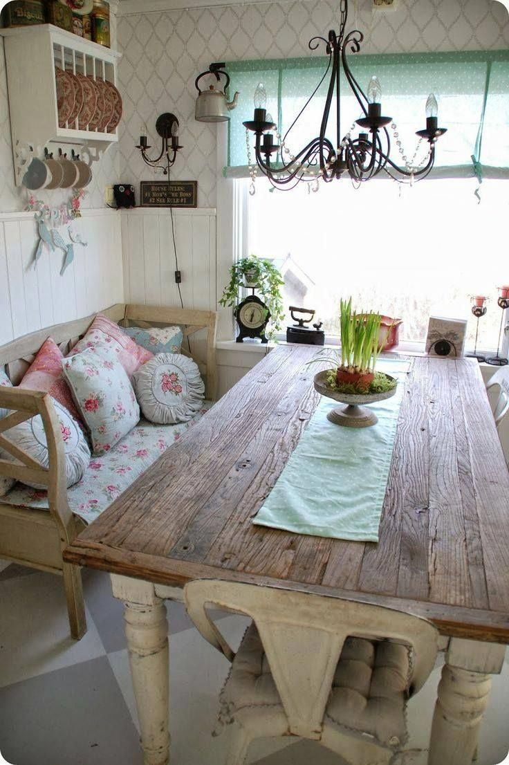 Shabby chic dining kitchendecorideas home decor kitchen in
