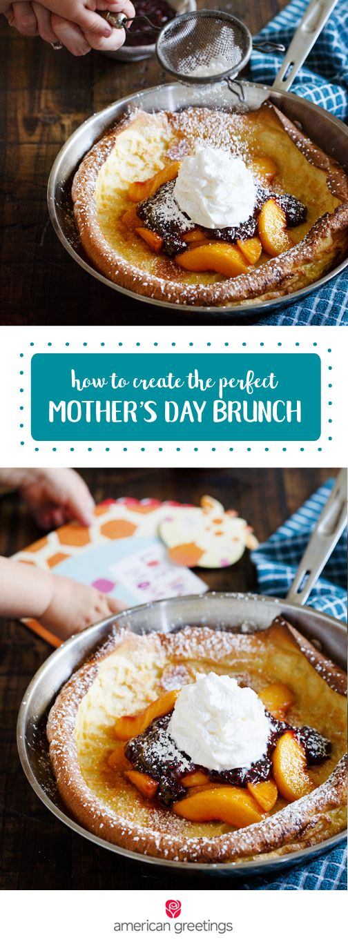 This spring is the perfect time to try something new for Mother's Day! This delightful recipe for Peach Melba Dutch Baby Pancakes will complete any brunch or breakfast table. When paired with a sweet greeting card, this quick and easy meal turns into a thoughtful and delicious gesture for any mom in your life! Grab everything you need at Target.