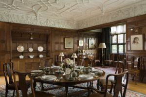 The Dining Room at Wightwick Manor, Wolverhampton, West Midlands