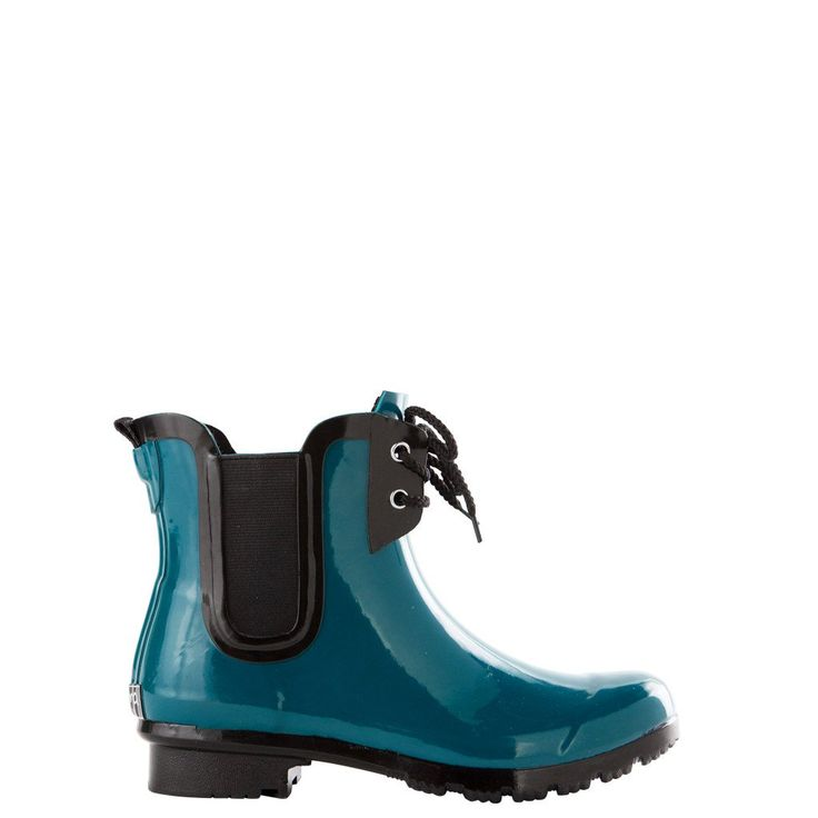 CHELSEA LACE Teal Women's Rain Boots