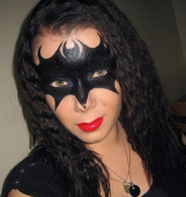 Halloween Series : Batman vs Catwoman Mask makeup tutorial