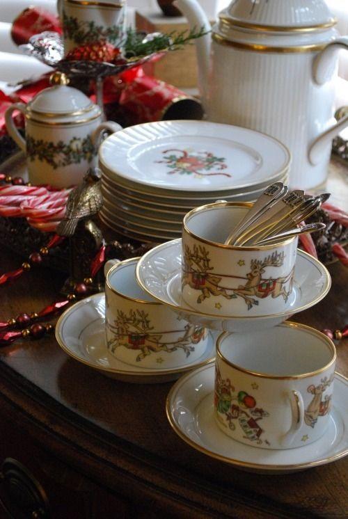 very elegant christmas tea set christmas entertaining pinterest. Black Bedroom Furniture Sets. Home Design Ideas