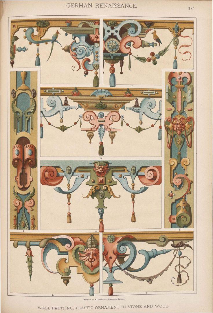 Emil Hochdanz (1816 -1885) — German Renaissance. Historic styles of ornament (1317x1934)