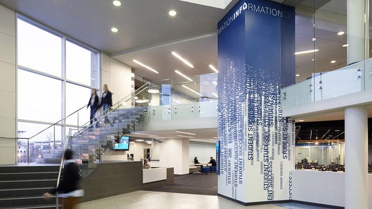 Entry Lobby Interior Design Umkc Atterbury Student Success Center Architecture Gould Evans