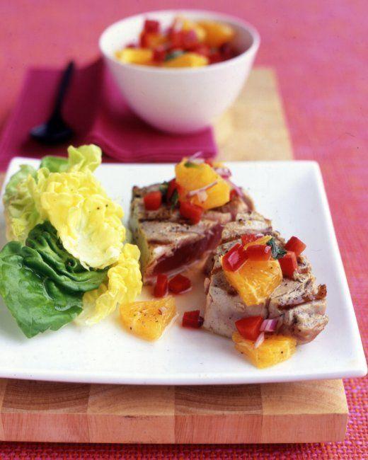 Tuna with Orange-Pepper Salsa Recipe