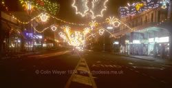 First Street, Salisbury, Christmas 1974 I remember seeing the Christmas street lights as a kid.  Loved it.