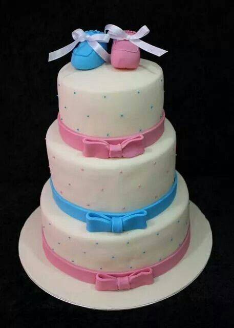 Cake For Twins  Baby Shower