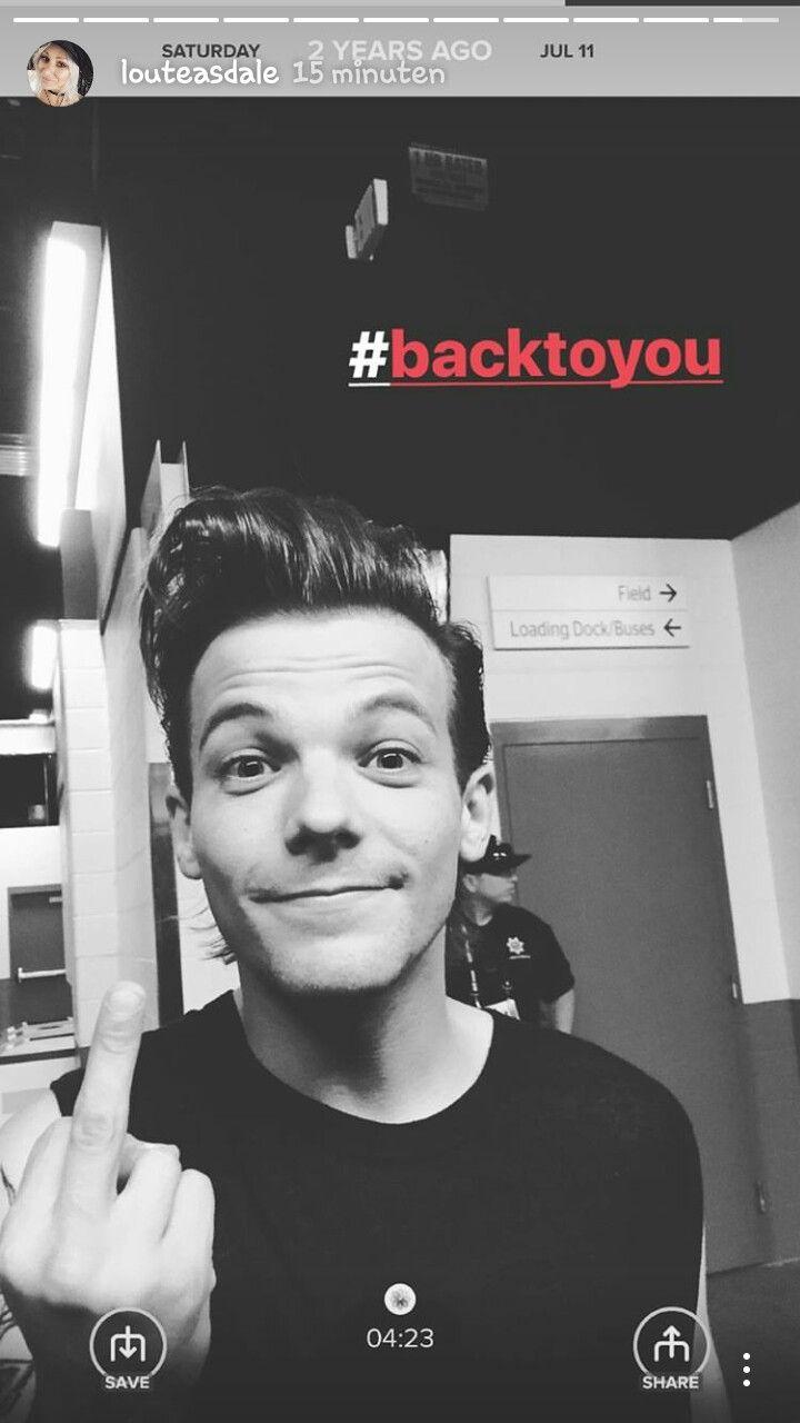 Louis via Lou Teasdale IG story 11 July 2017