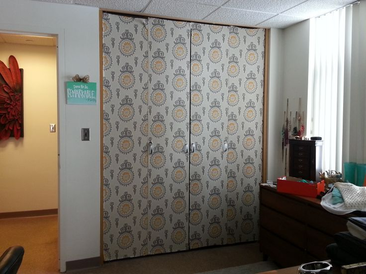 Didn T Like My Ugly Closet Doors Solution Covered Them
