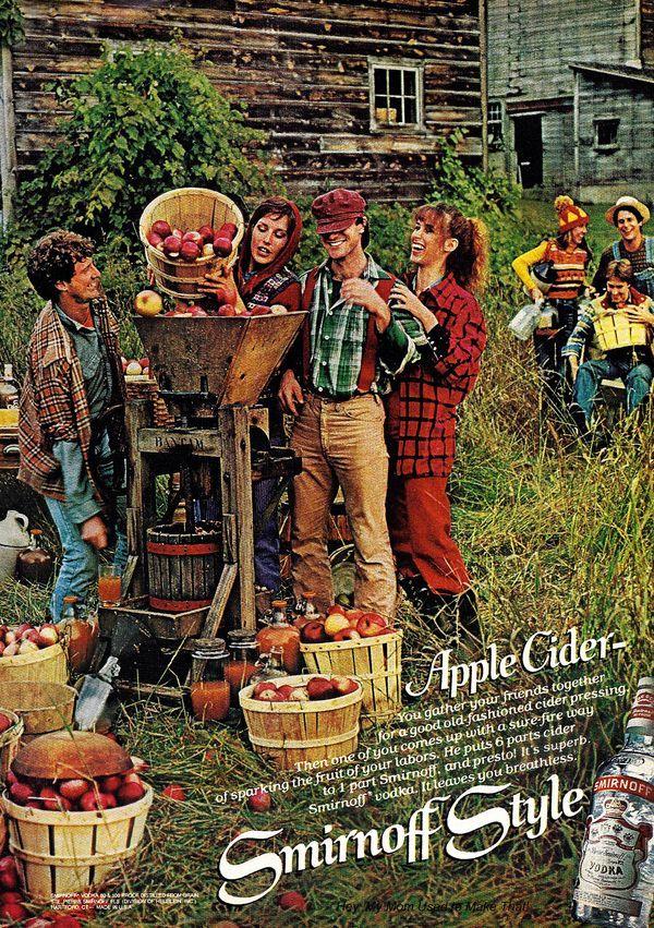 Easy hard cider. #recipe #cocktail #cider #cocktail #smirnoff #vodka #ad #1970s #vintage #retro
