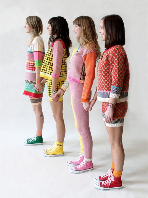 Cute but cool knitwear by ALL Knitwear - love the leggings