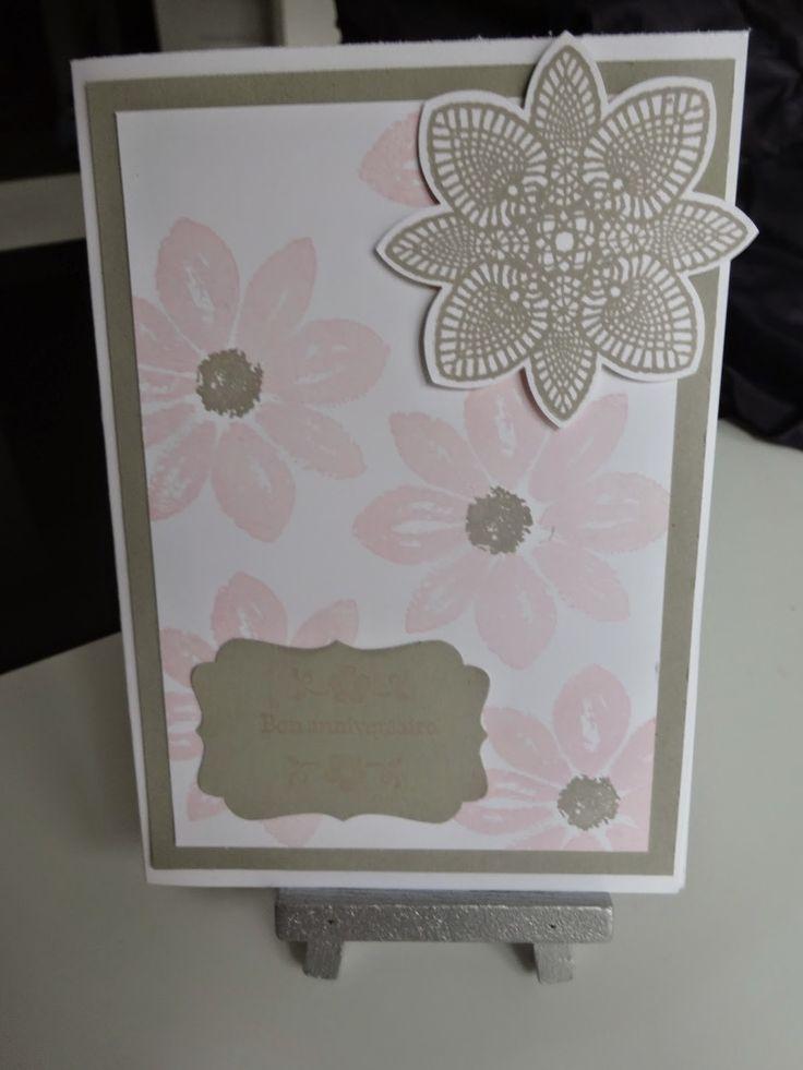 Carte Anniversaire petal potpourri stampin'up