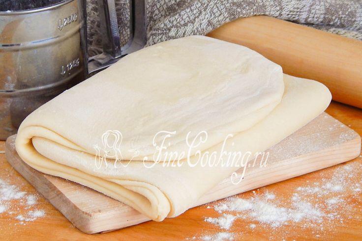 Домашнее слоеное бездрожжевое тесто - рецепт с фото