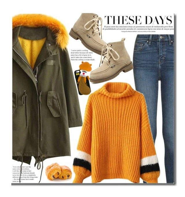"""""""Casual: Faux Fur Parka Collar"""" by beebeely-look ❤ liked on Polyvore featuring Topshop and Dsquared2"""