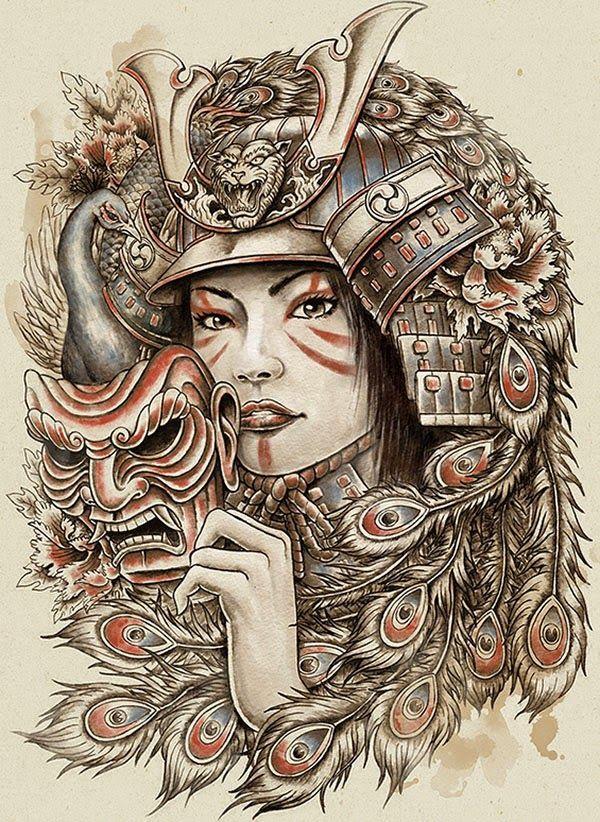 Artist: Michael Hinkle (US) >> #Yellowmenace: The creations of 40 brilliant artists; traditional & historically accurate samurai, pop remixed ronin, sci-fi shizoku, sexy onna-bugeisha & abstract bushi.- http://yellowmenace8.blogspot.com/2015/05/art-samurai-inspired.html
