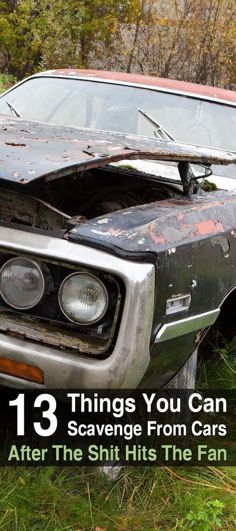 13 Things You Can Scavenge From Cars After The SHTF - If you're anywhere near a city when the SHTF, you'll come across thousands of vehicles that are full of useful survival items you can scavenge. #SHTF #Survival