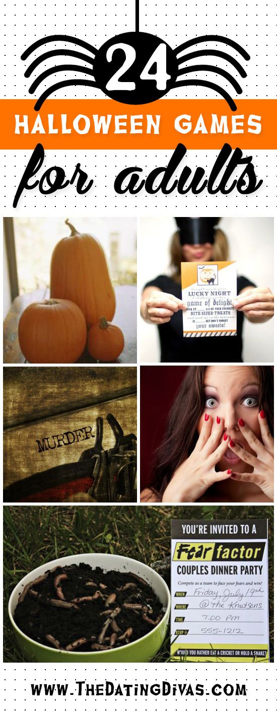 Halloween isn't just for kids! These Halloween games are perfect for a couples party! www.TheDatingDivas.com