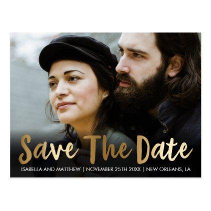 #savethedate #postcards - #Bronze Save The Date   Customizable Picture Postcard