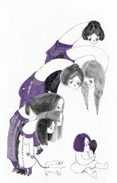 Eva contro Eva - scritto per Lahar Magazine 26: Invidia | illustrazione di Claudia Bernardi - Invidia gli invidiosi, 2015 | Visita il sito per leggere il racconto!