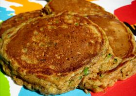 Sweet Zucchini Pancakes: Zucchini is everywhere in early fall, so why not add this nutritious vegetable to the most important meal of the day? #KidsCookMonday