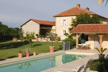 Eclectic-chic rules at this stunning villa in South West France where the pretty views are matched by indulgent bathrooms, glamorous bedrooms and Italian designer kitchens.  http://www.babyfriendlyboltholes.co.uk/tresbos_farmhouse-child-friendly-accommodation-18649.htm