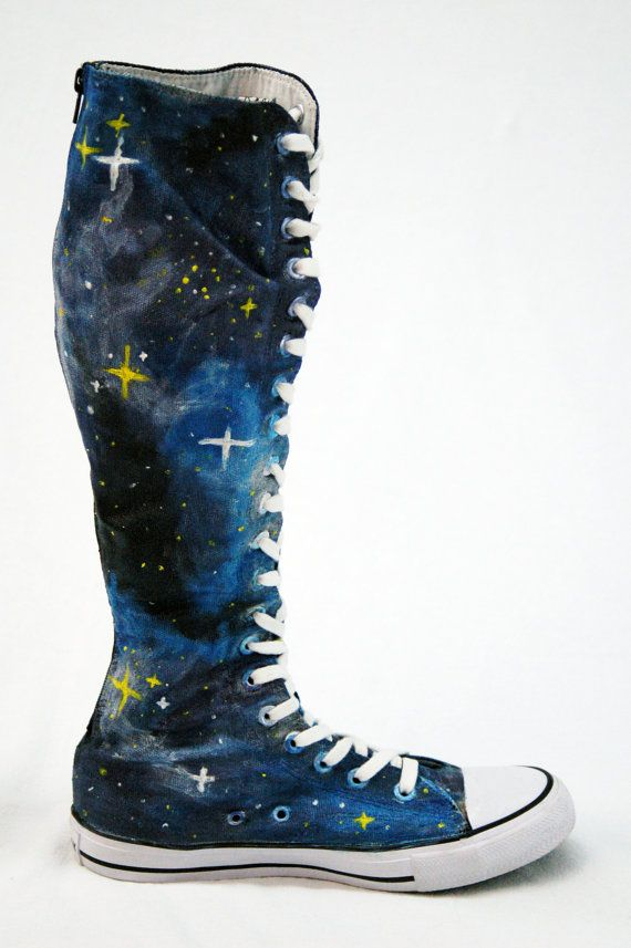 Galaxy Converse Knee Highs by SBFW on Etsy, $115.00