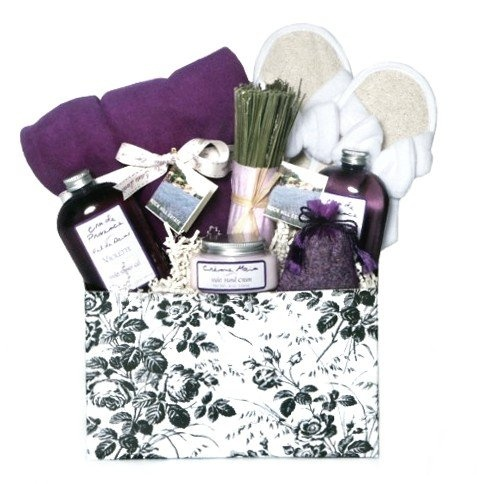 7 gift basket pinterest 11739 relaxing lavender aromatherapy bath body spa basket for women valentines or negle Images