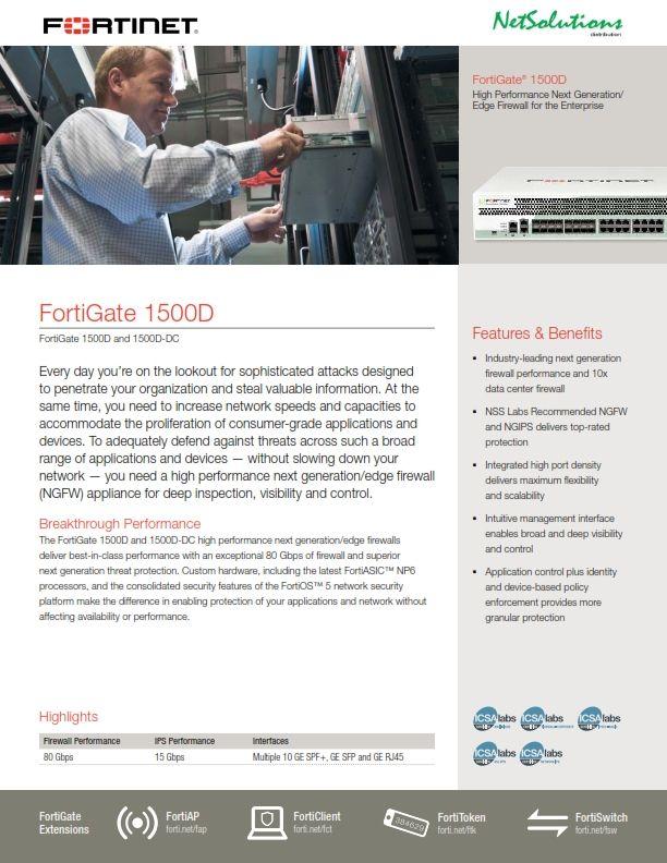 PT. #Netsolutions Infonet #Fortinet 1500D
