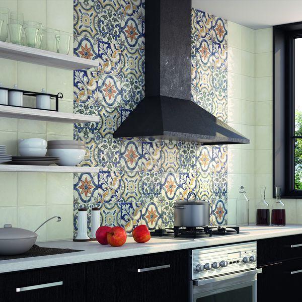 $7.20 sf  SomerTile 7-3/4x7-3/4-inch Borough Arco Ceramic Wall Tile (Case of 25)