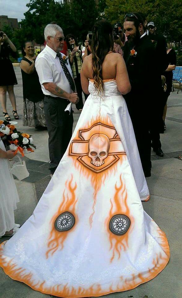 cute harley wedding gown diy biker wedding pinterest