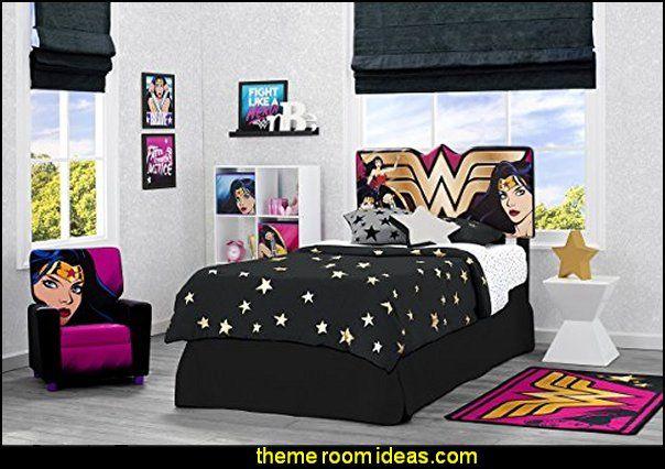 Dc Comics Wonder Woman Bedroom Furniture Superheroes Bedroom Ideas Batman Spiderman Superman Decor C Marvel Bedroom Superhero Room Superhero Room Decor