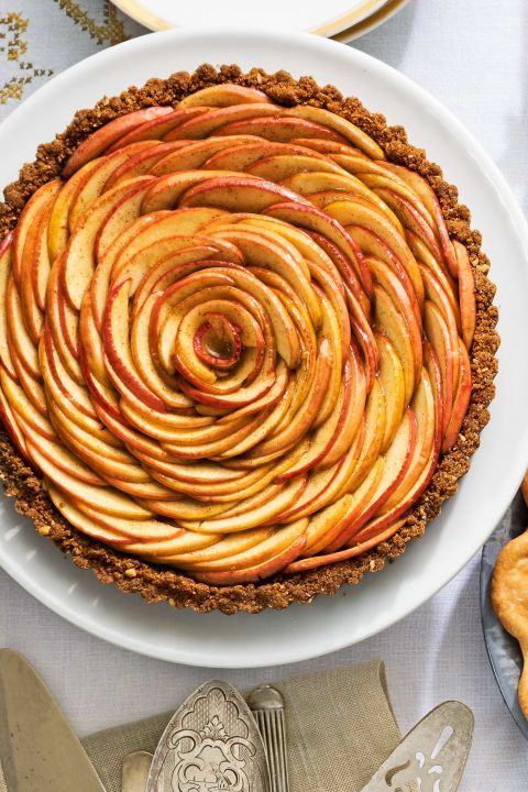 Pink Lady apples are the star of this eye-catching Apple Blossom Tart. To create this spiral design, arrange apples in an overlapping circular pattern and continue until you reach the center.