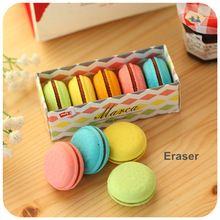 5 pçs/set Macaron cor borrachas bonito bolo borracha earser para crianças borracha engraçado material de papelaria escolar material escolar 6471(China (Mainland))