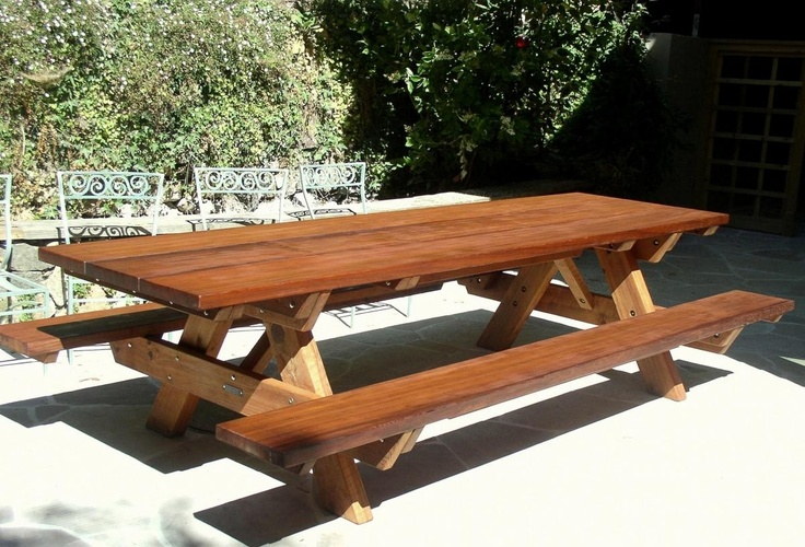 10 foot picnic table for front yard gardening pinterest for 10 ft picnic table
