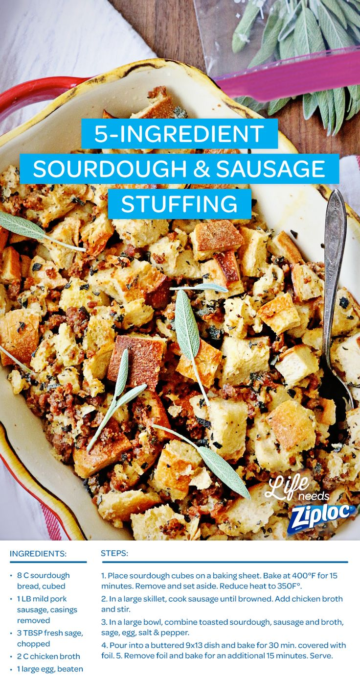 to the average stuffing! The 5-Ingredient Sourdough & Sausage Stuffing ...