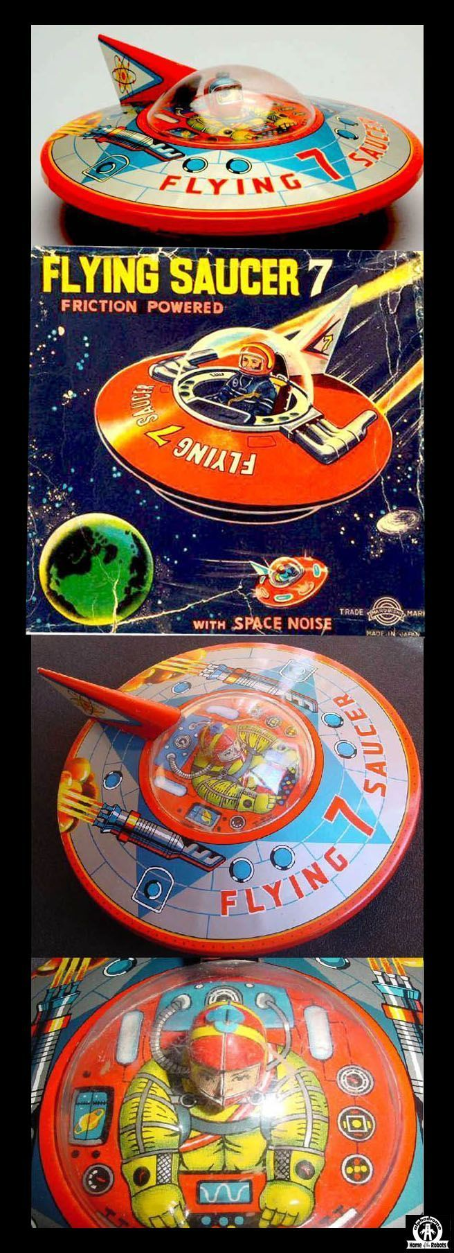 Flying Saucers - FLYING SAUCER 7 - MARUBISHI - JAPAN - ALPHADROME ROBOT AND SPACE TOY DATABASE
