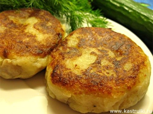 Постные картофельные котлеты с грибами - vegan