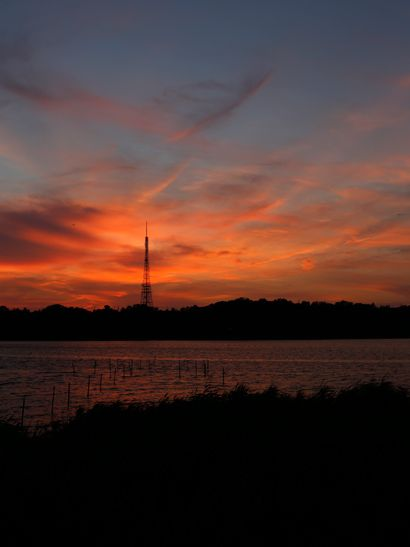 Lake Sanaru, Hamamatsu-city, Japan. 佐鳴湖 夕焼け小焼け Sunset