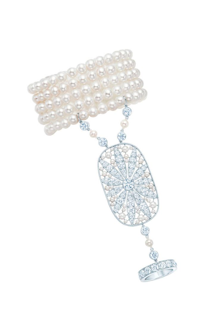 Tiffany & Co Great Gatsby Jewelry Collection  Hand Ornament With A Daisy  Motif In