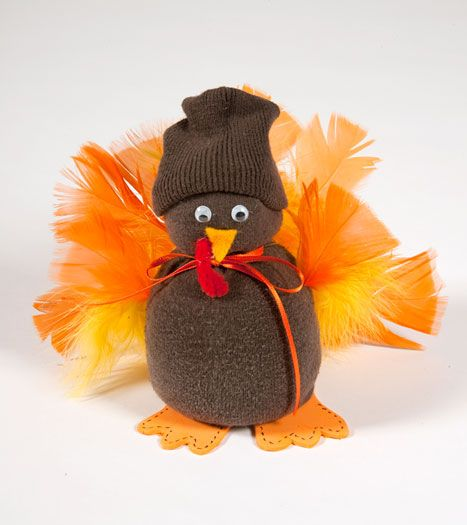 Thanksgiving Crafts | Sock Turkey Thanksgiving Bible Craft at Christian Games and Crafts