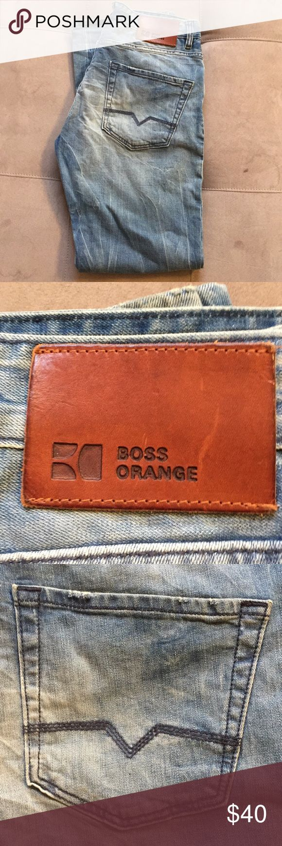 Men's Boss Orange regular cut jeans size 32/30 Great shape with little wear.  Super premium Boss orange label jeans by Hugo Boss.  Size 32/30, fits true to size.  Modern regular cut for a great fit and look.  Very high end jeans for a fraction of the cost. BOSS ORANGE Jeans