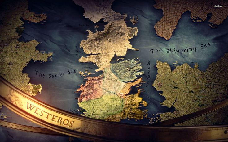 Westeros map - Game of Thrones wallpaper