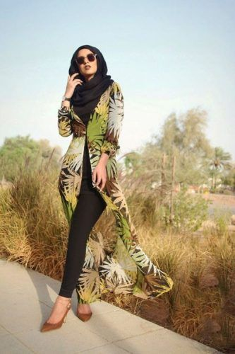 long cardigan hijab wild outfit- Summer hijab trends http://www.justtrendygirls.com/summer-hijab-trends/