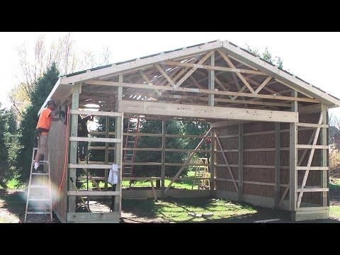 Best 25 diy pole barn ideas on pinterest building a for How to build a pole shed step by step