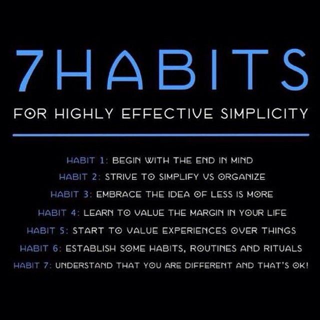 eyevanzimmer - 7 Great habits to adapt in your life. #leadersneverquit #LiveSimply.TravelLight
