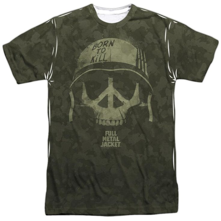 Full Metal Jacket War For Peace Sublimation Print T-Shirt from Warner Bros.: Private Joker has a thing or two to… #Movies #Films #DVD Video