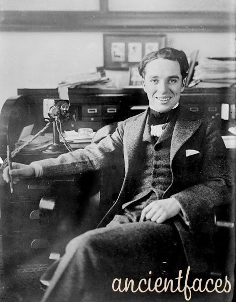 "Sir Charles Spencer ""Charlie"" Chaplin at 21 yrs old"