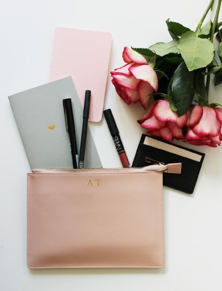 need this ❤️ Pale Pink Leather Clutch | The Daily Edited